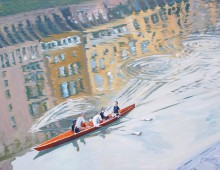 Rowing the Arno, Florence, Italy