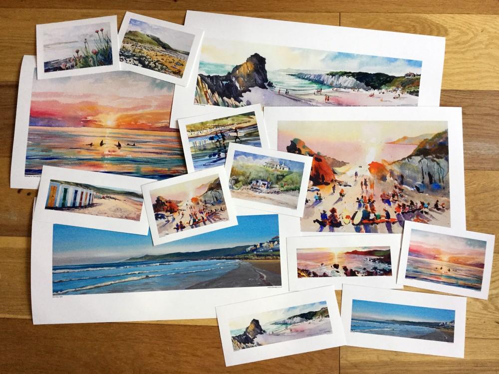 Steven Pleydell-Pearce Fine Art Prints. Woolacombe Beach. Barricane Beach, Woolacombe, North Devon.