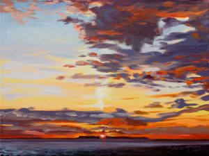 The End of Summer oil painting by Steven Pleydell-Pearce