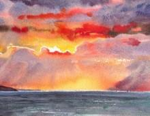 Woolacombe Winter Sunset