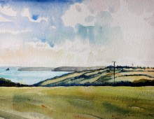 Dodman Point across to Falmouth, Cornwall