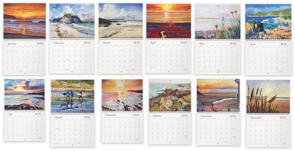 Steve PP Fine Art Calendar images x 12