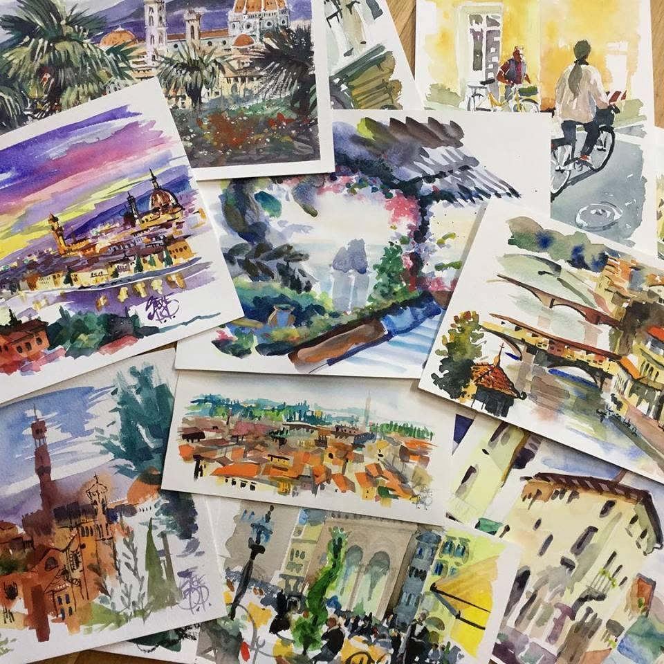 Studio Travel Sketches from Steve PP Fine Art Studio