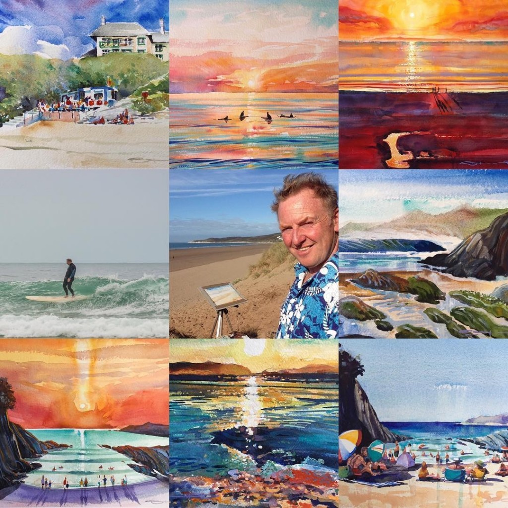 Steve PP Fine Art Gift Vouchers watercolour paintings from the Woolacombe artist.