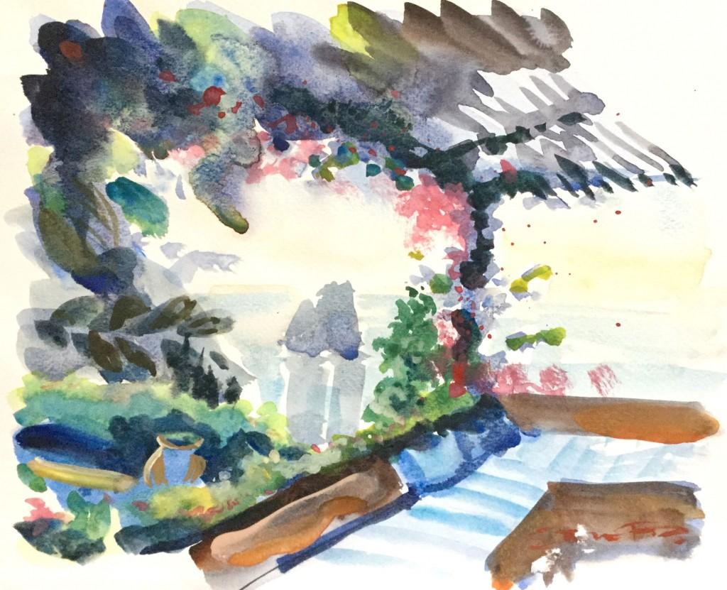 Italian Sunset Serenade - Watercolour paintings of Italy by Steve PP