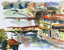 Looking Down Onto Ponte Vecchio