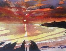 Moody Summer Sunset