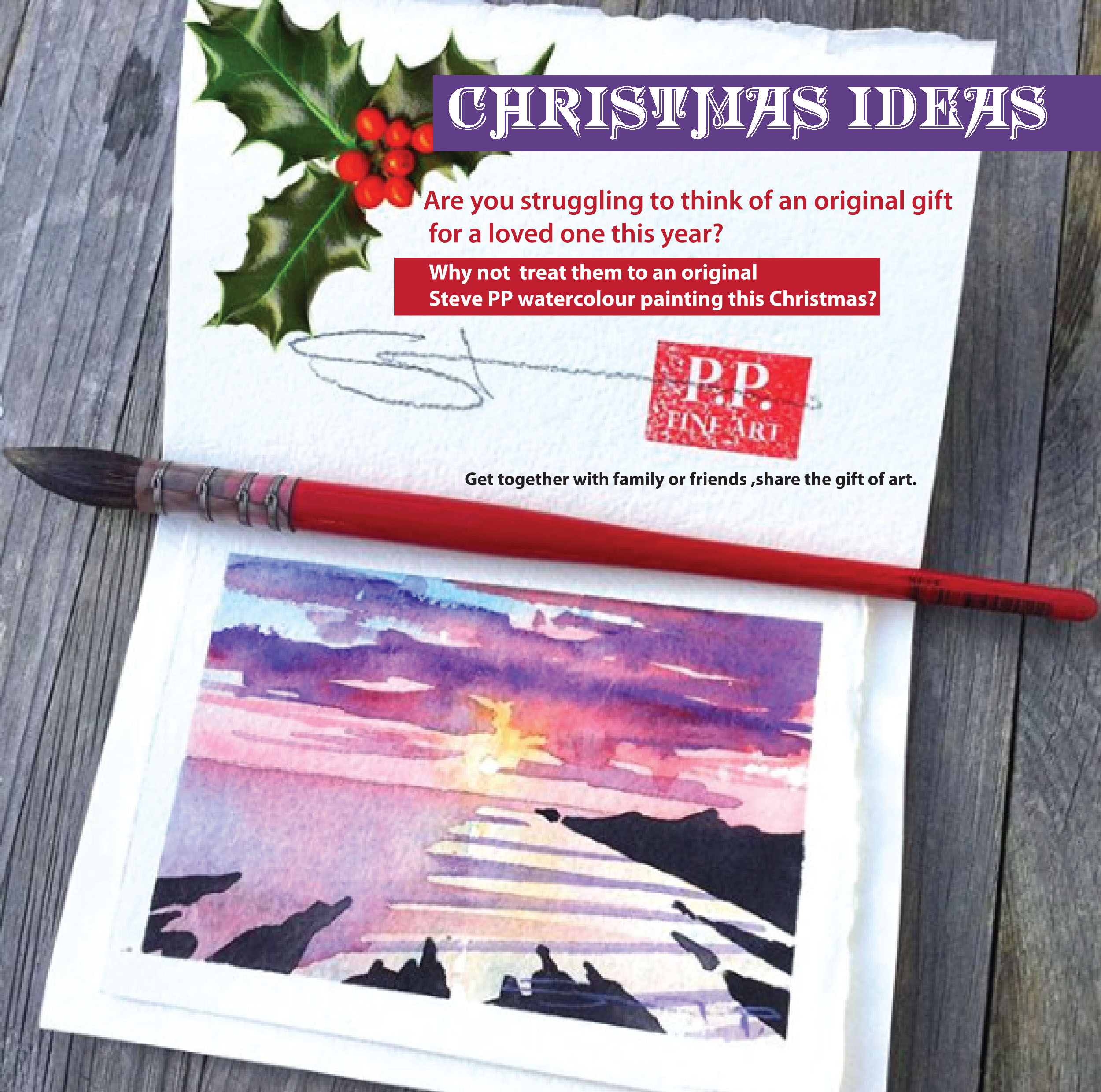 Steven Pleydell Pearce Fine Art Woolacombe artist Steve PP Christmas ...