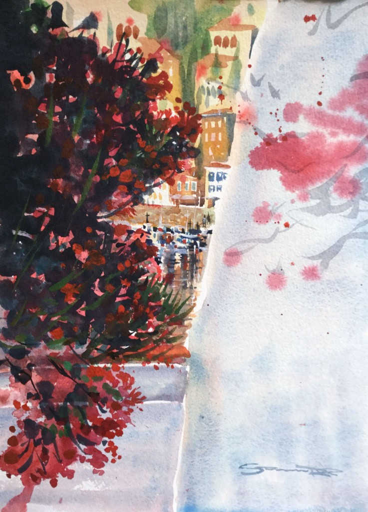 October On Hydra - Watercolour paintings of Greece by Steve PP.