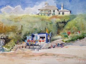 September Barricane - Woolacombe print edition from Steve PP Fine Art. Barricane Beach, Woolacombe, North Devon.