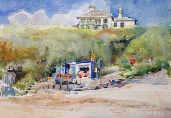 September Barricane - Woolacombe print edition from Steve PP Fine Art. Barricane Beach, Woolacombe, North Devon.