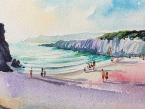 Summer Evening - Woolacombe print edition from Steve PP Fine Art. Barricane Beach, Woolacombe, North Devon.