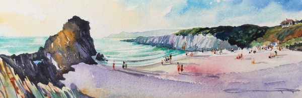 Summer Evening - Woolacombe print edition from Steve PP Fine Art. Barricane Beach, Woolacombe, North Devon.