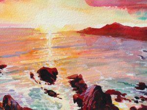 Summer Finale - Woolacombe print edition from Steve PP Fine Art. Barricane Beach, Woolacombe, North Devon.