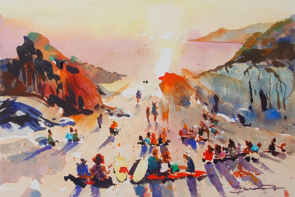 Sunsets and Curries - Woolacombe print edition from Steve PP Fine Art