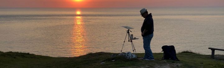 Morte Point Sunset – Plein Air Demo
