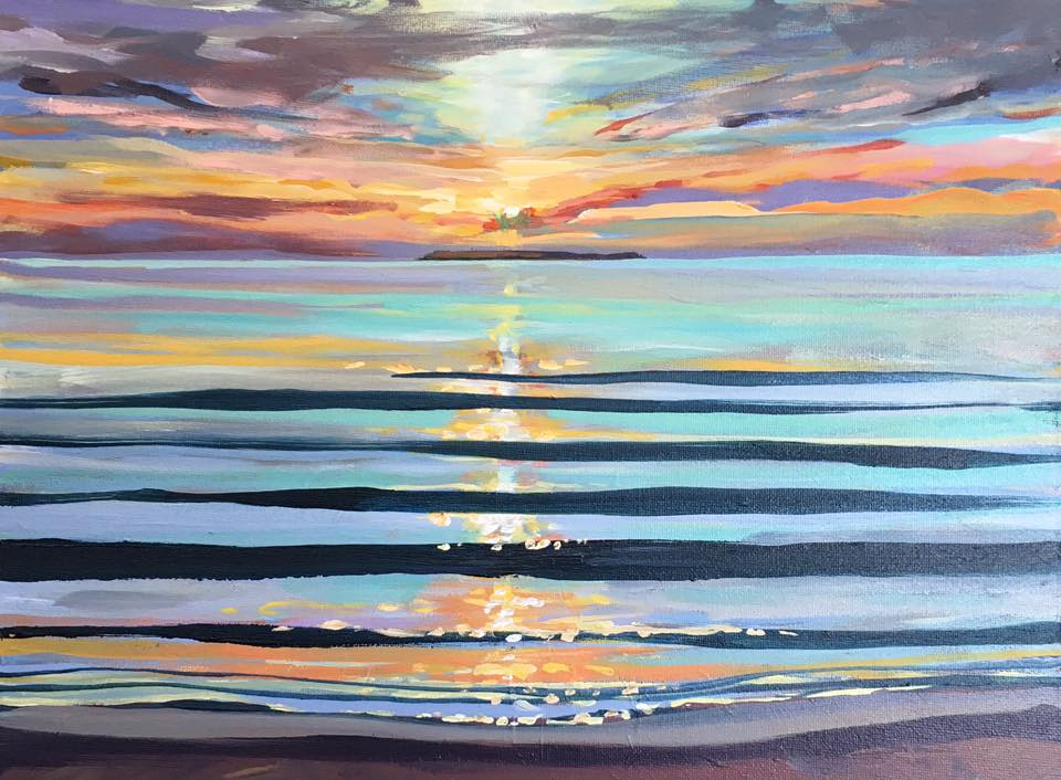 Lundy Lines Steve PP painting