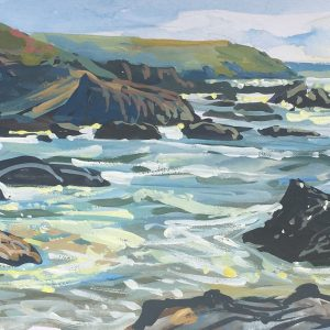 High Tode Sparkles,Woolacombe. Sketch to studio