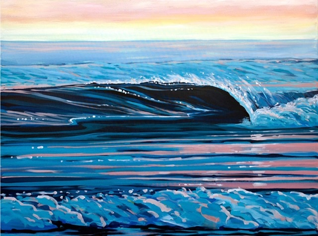 Glassy Calm Steve PP painting