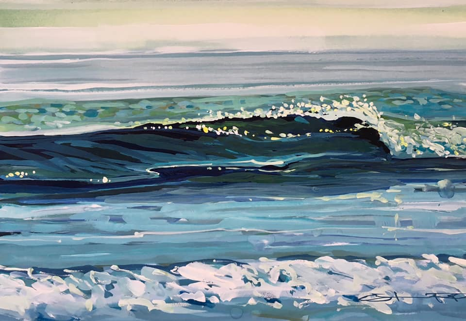 Glassy wave painting Steve PP