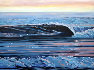 Glassy Calm Wave Painting