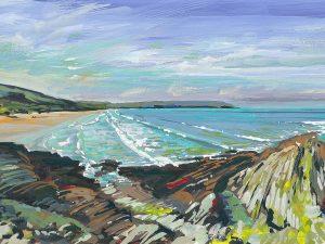 Across the bay by woolacombe artist Steve Pleydell-Pearce