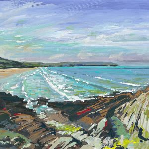 Across the bay by woolacombe artist Steve Pleydell-Pearce