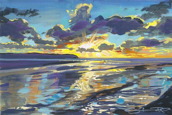 Sparkling Salty Chandeliers on Woolacombe beach by artist Steve Pleydell-Pearce