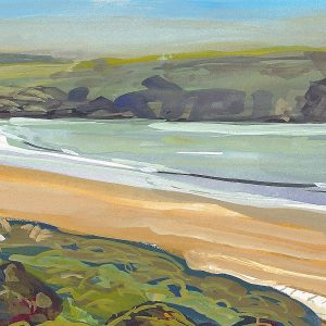 Morning Tide Woolacombe painted by artist Steve Pleydell-Pearce