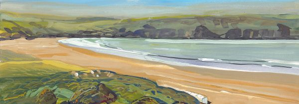 Morning Tide Woolacombe painted by artist Steve Pleydell-Pearce