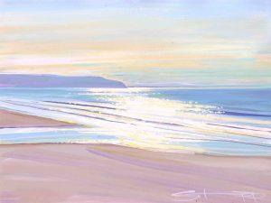 Sparkle therapy colourful gouache landscape painting by contemporary landscape painter Steve PP.