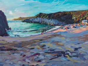 summer evening barricane beach curry night